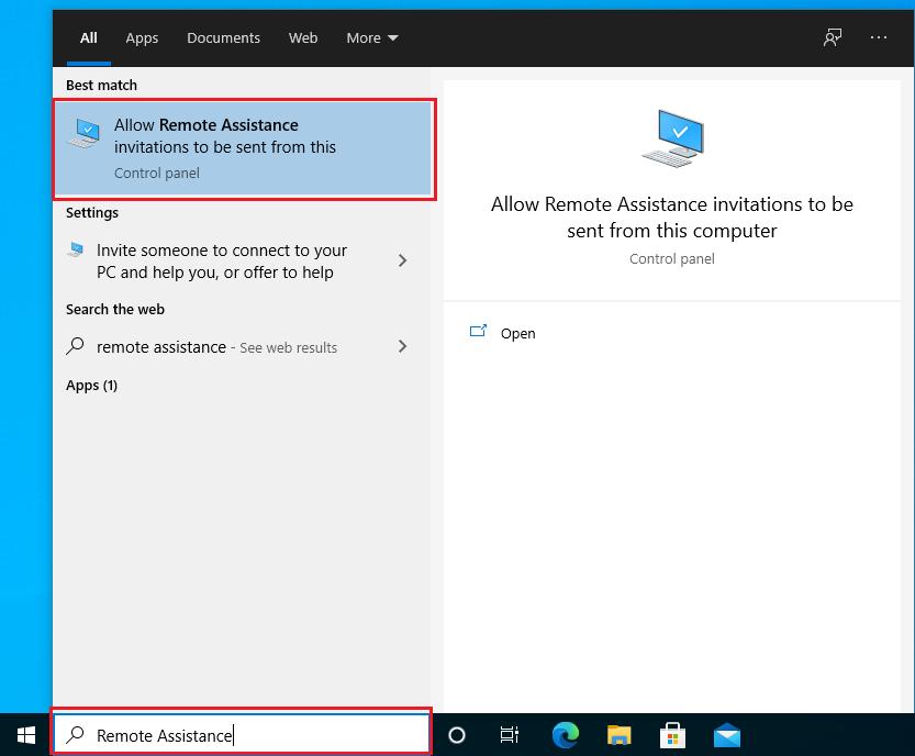 Desactivar la conexión de asistencia remota en Windows • Sitio web para estudiantes