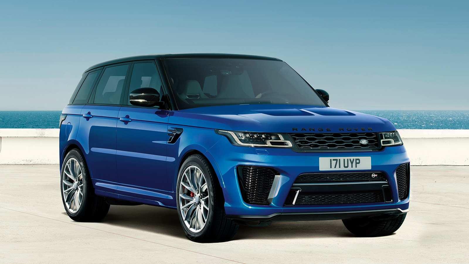 El Range Rover Sport SVR 2021 puede pasar de 0 a 100 km / h en 4,5 segundos.  Imagen: Land Rover