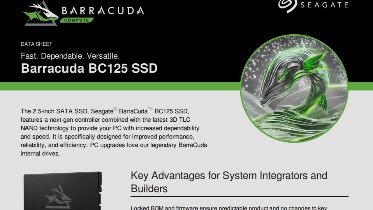 Filtrado: Seagate BarraCuda BC125 y 515 SSD para sistemas completos