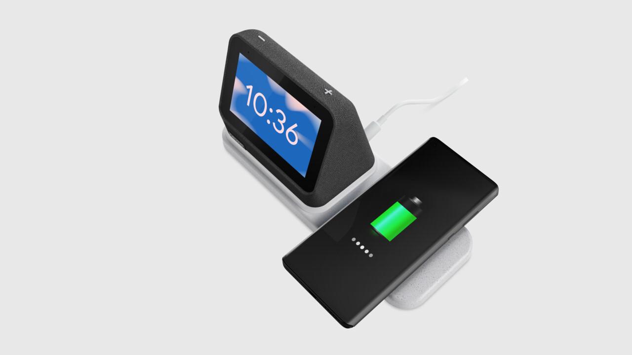 Lenovo Smart Clock 2: pantalla inteligente con base de carga para su teléfono inteligente
