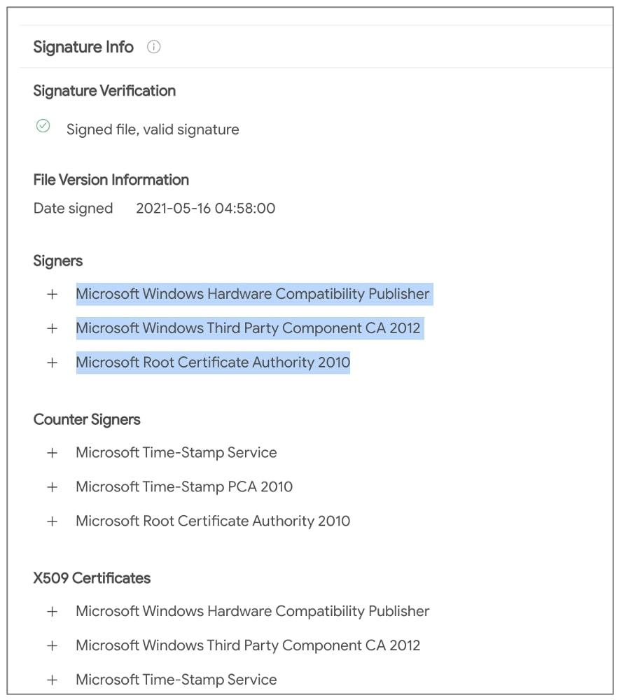 microsoft firma controlador netfilter malicioso