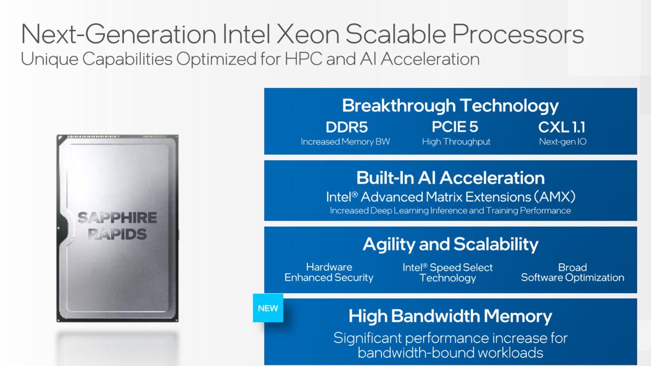 Sapphire Rapids: la CPU de servidor de próxima generación de Intel obtiene HBM