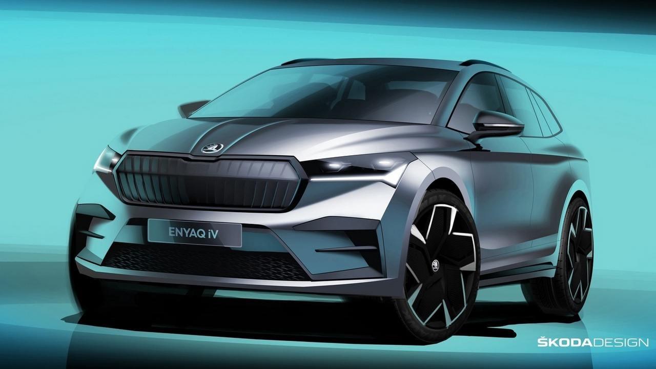 Los próximos vehículos eléctricos de Skoda se colocarán debajo del crossover Enyaq iV.  Imagen: Skoda