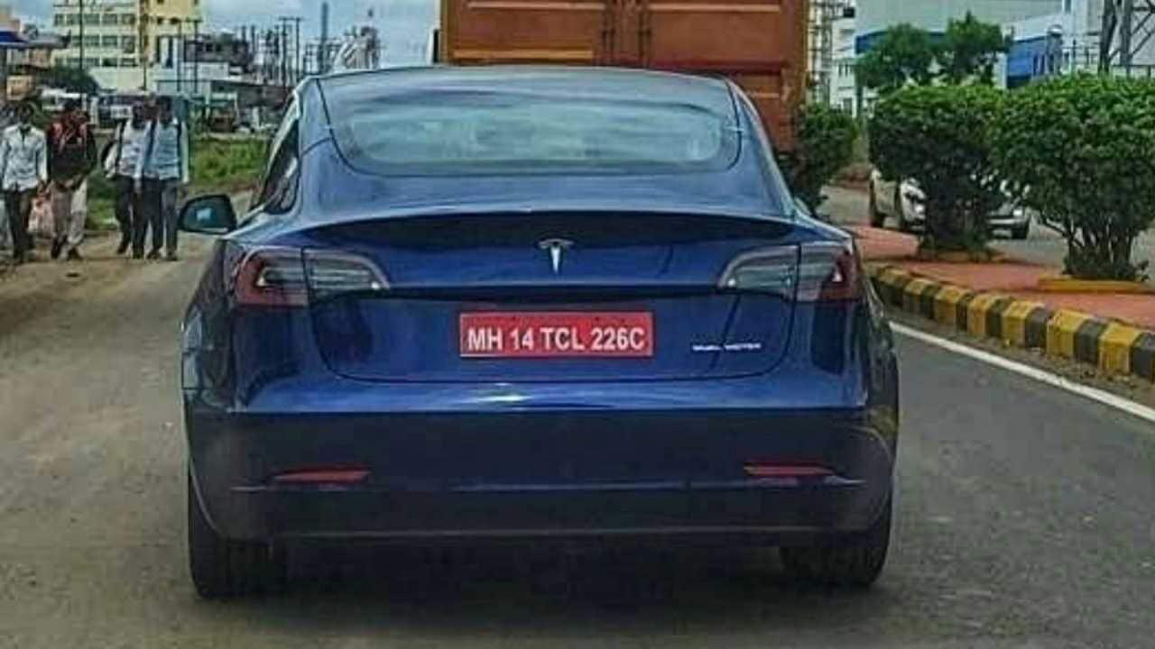 El Tesla Model 3 que se puso a prueba en Pune es el modelo AWD de largo alcance.  Imagen: pune_exotics