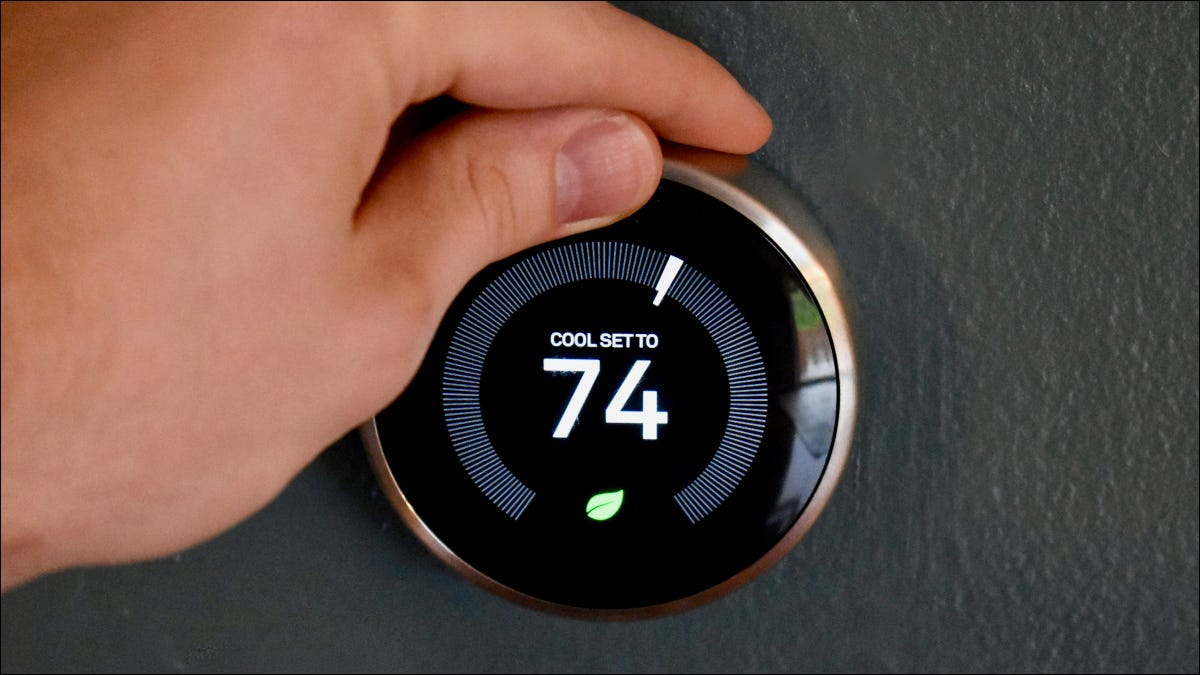 Ajuste manual de un termostato inteligente