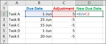 Ingrese la fórmula de la suma de ajuste