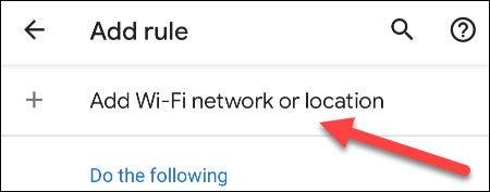 agregar red wifi o ubicación