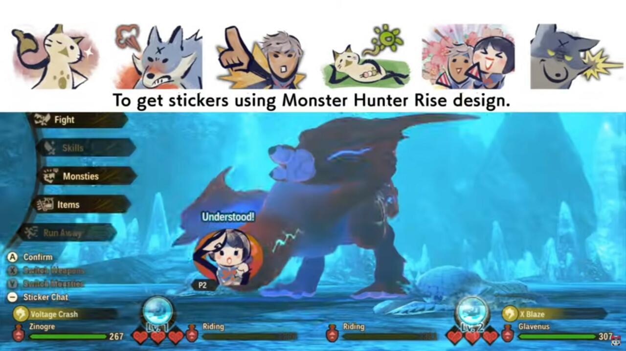 Monster Hunter Rise te consigue pegatinas de ese juego que puedes usar en modo cooperativo y PvP.