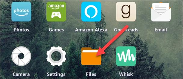 """Abre el """"Archivos"""" aplicación desde la pantalla de inicio."""