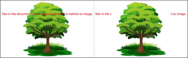 Imagen detrás y delante del texto en Google Docs