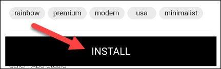 """Toque en el """"Instalar en pc"""" botón para agregarlo a su Samsung Galaxy Watch"""