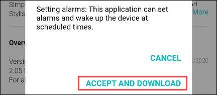 """Selecciona el """"Aceptar y descargar"""" botón"""