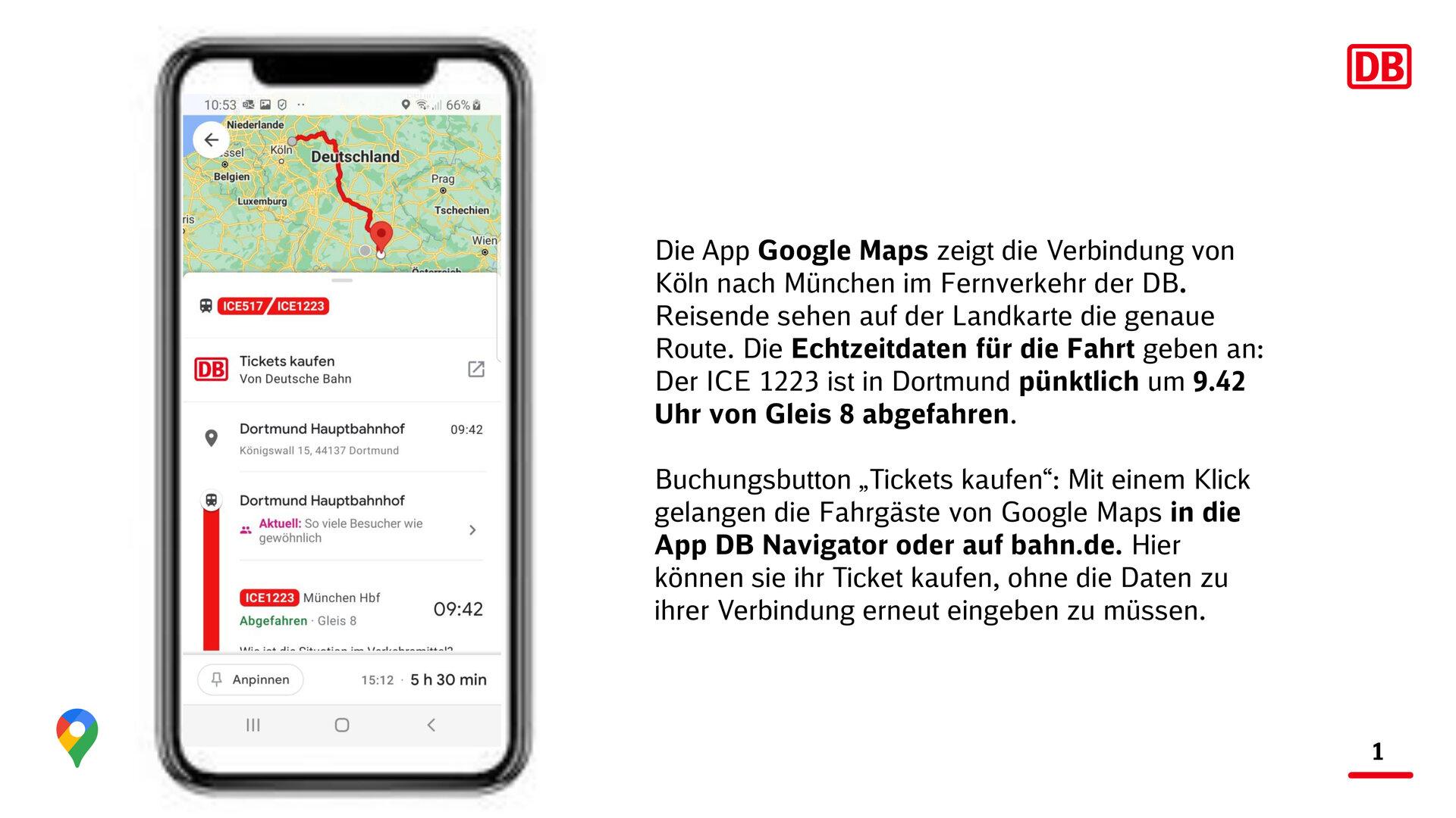 Integración de trenes de larga distancia en Google Maps