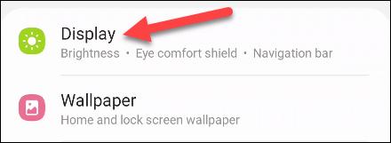 """Seleccione """"Configuración de pantalla."""""""