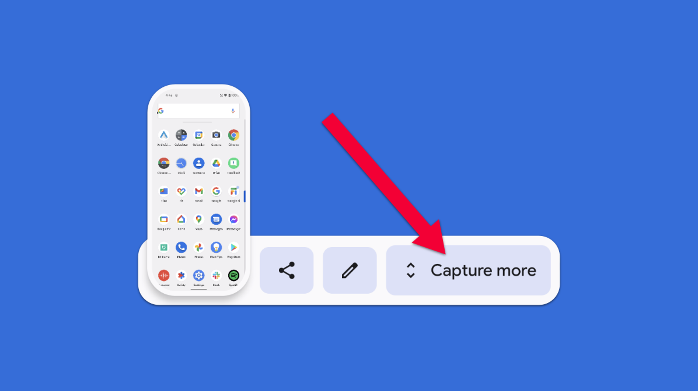 Cómo tomar una captura de pantalla con desplazamiento en Android