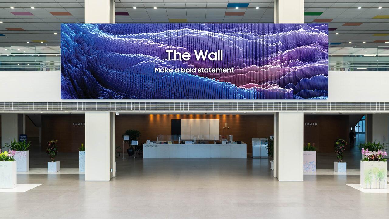 Samsung The Wall 2021: Micro-LED-Module sind halb so tief und doppelt so schnell