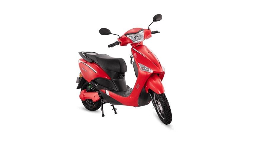 En Maharashtra, la versión de doble batería del e-scooter Hero Optima es más asequible que la versión de una sola batería.  Imagen: Hero Electric