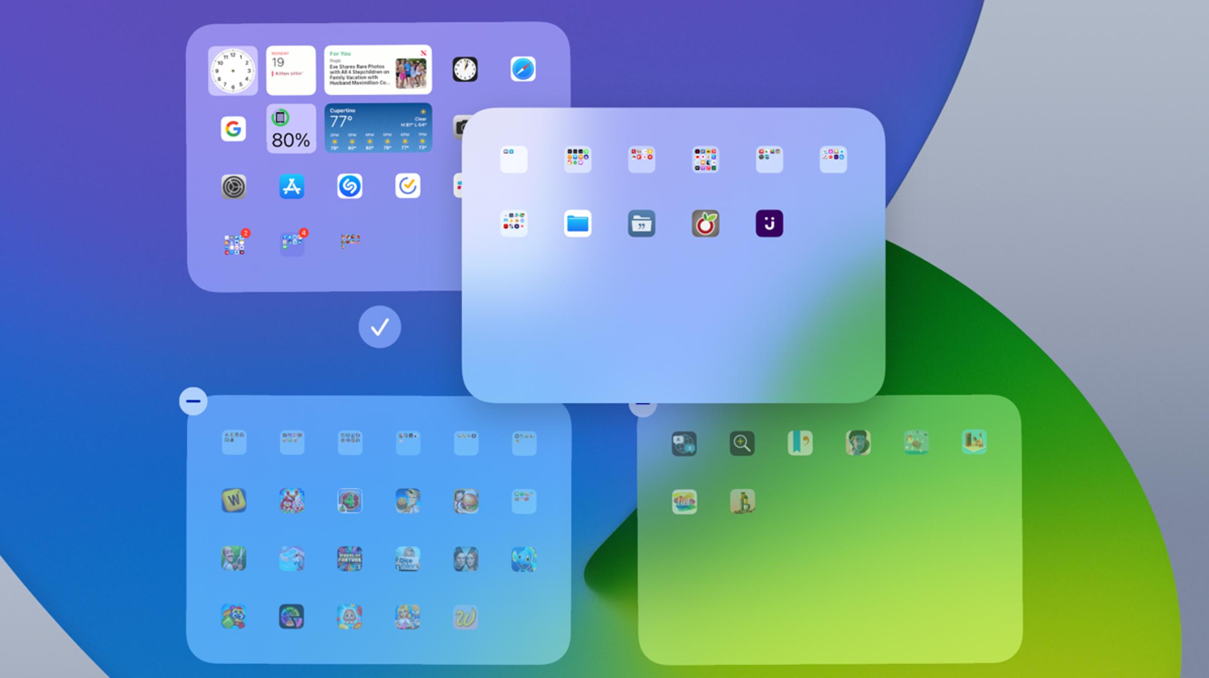 Cómo ocultar o reordenar pantallas en iPad