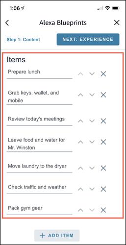 Agregue los elementos de su lista de verificación