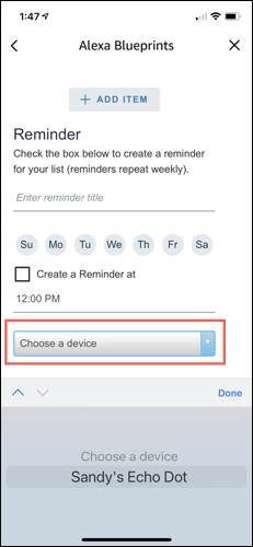 Elija un dispositivo