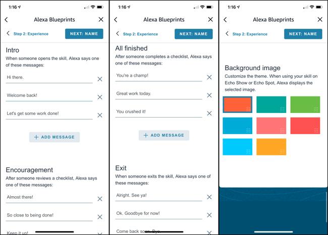 Personaliza las respuestas de Alexa y agrega un color de fondo