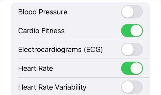 Compartir temas de salud en la aplicación de salud de iOS