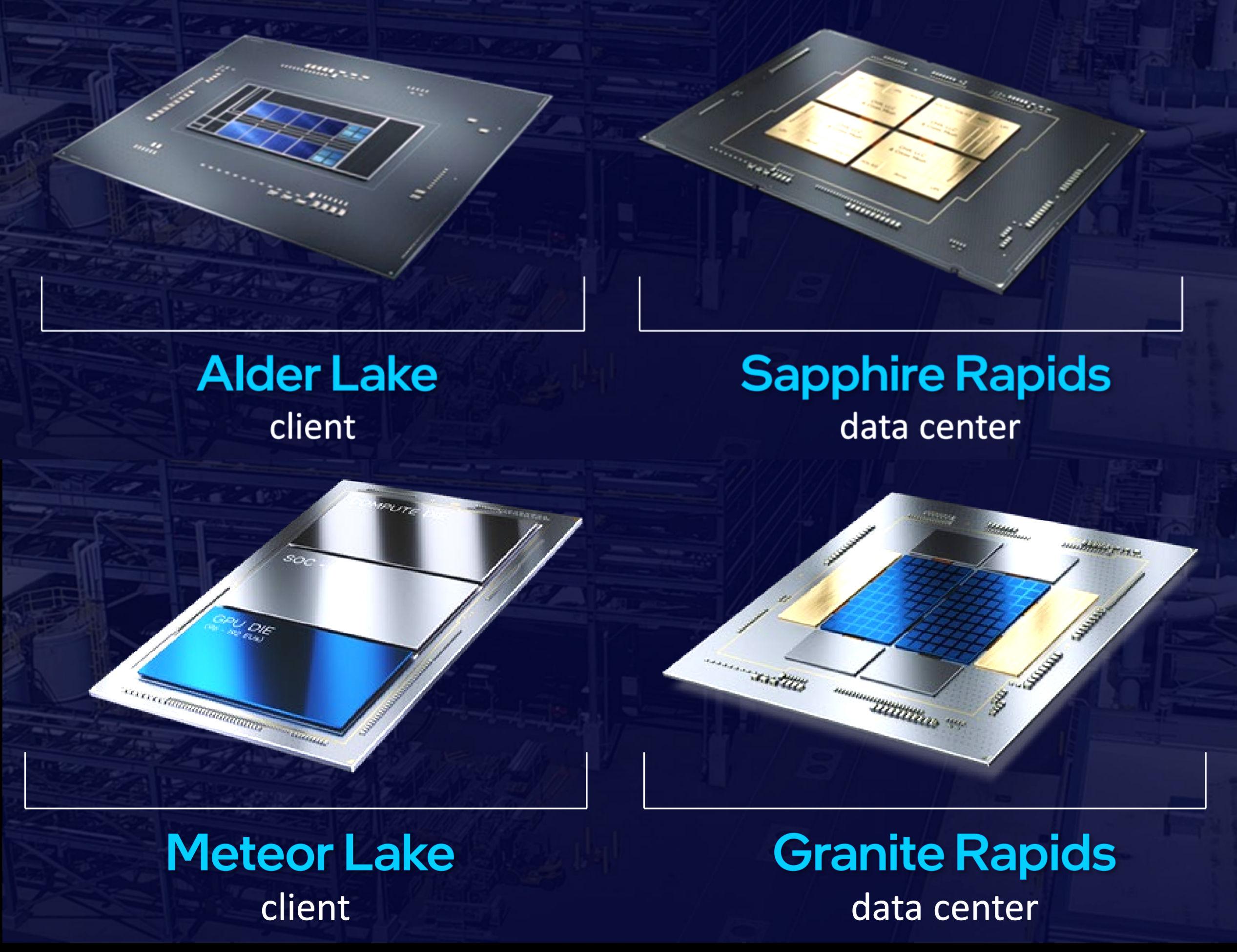 Intel revela el diseño de las CPU de Alder Lake, Sapphire Rapids, Meteor Lake y Granite Rapids