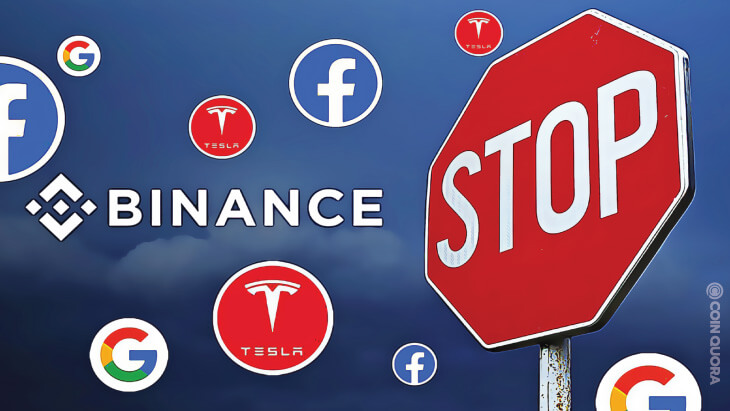 Binance Stops Selling Tesla, Facebook, Google Stock Tokens
