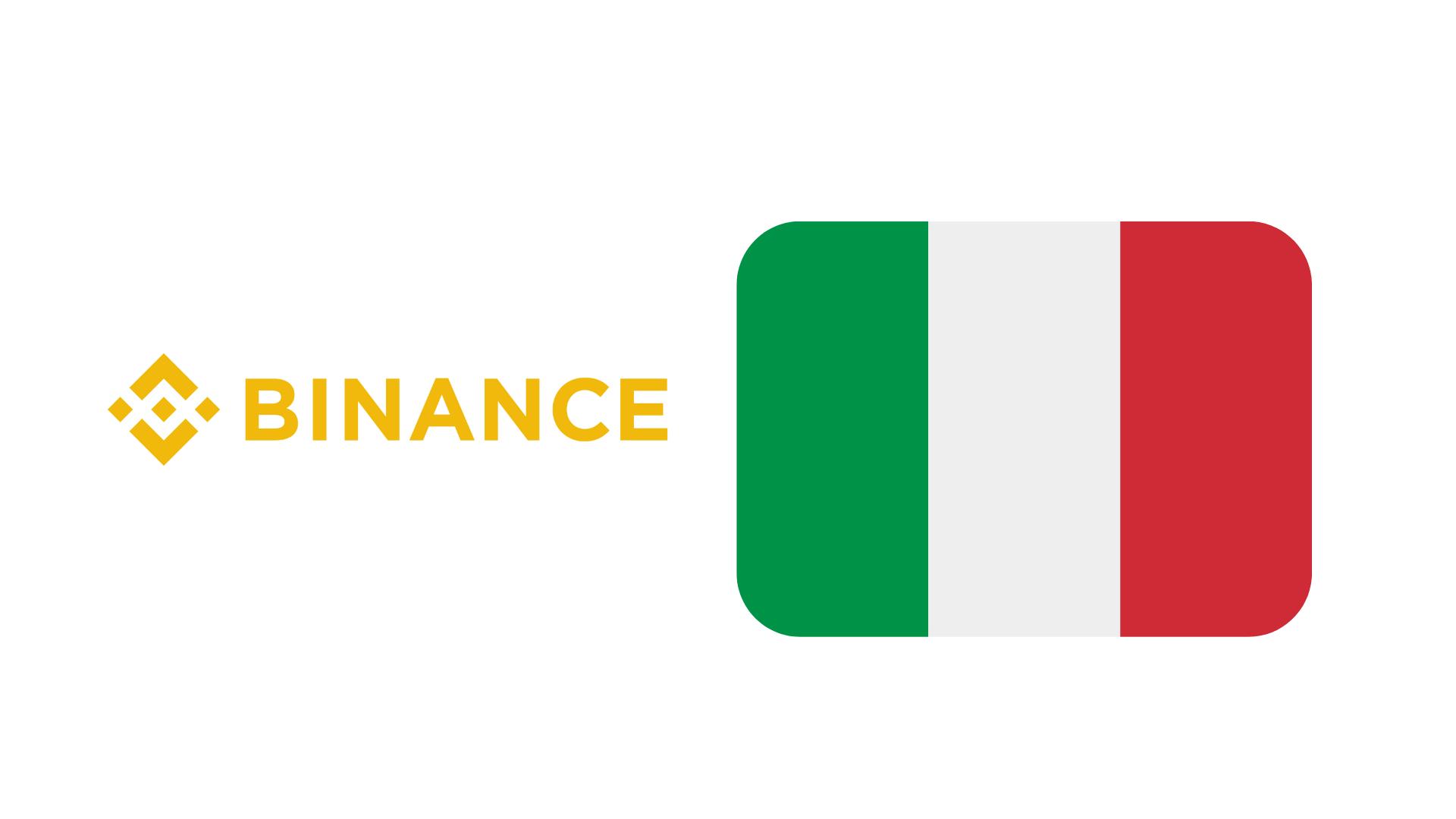 Binance no está autorizado en Italia, advierte el regulador