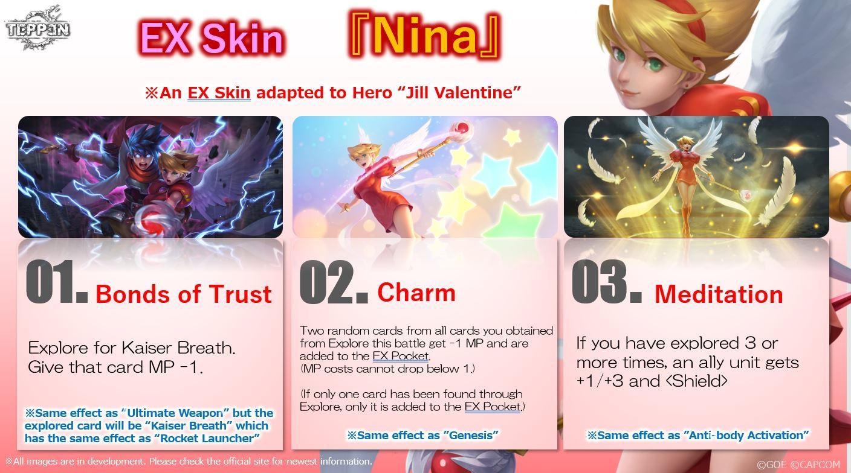 Aliento de fuego Nina Teppen Jill Valentine Skin Hero Arts