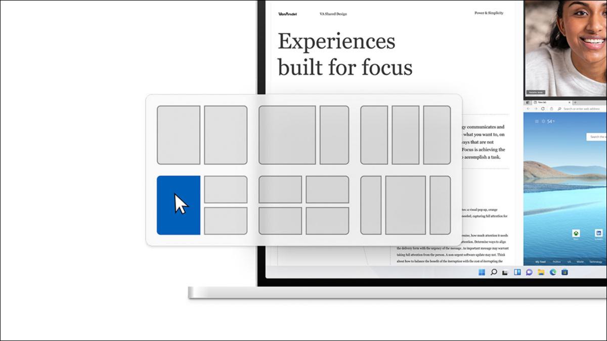 Diseños Snap de Windows 11