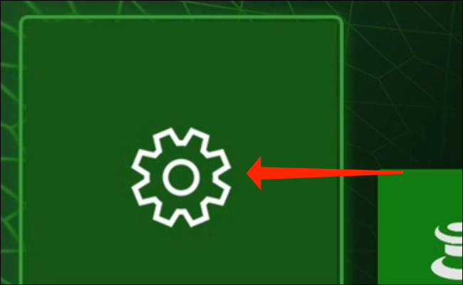 """Ajustes"" en Xbox Series X."
