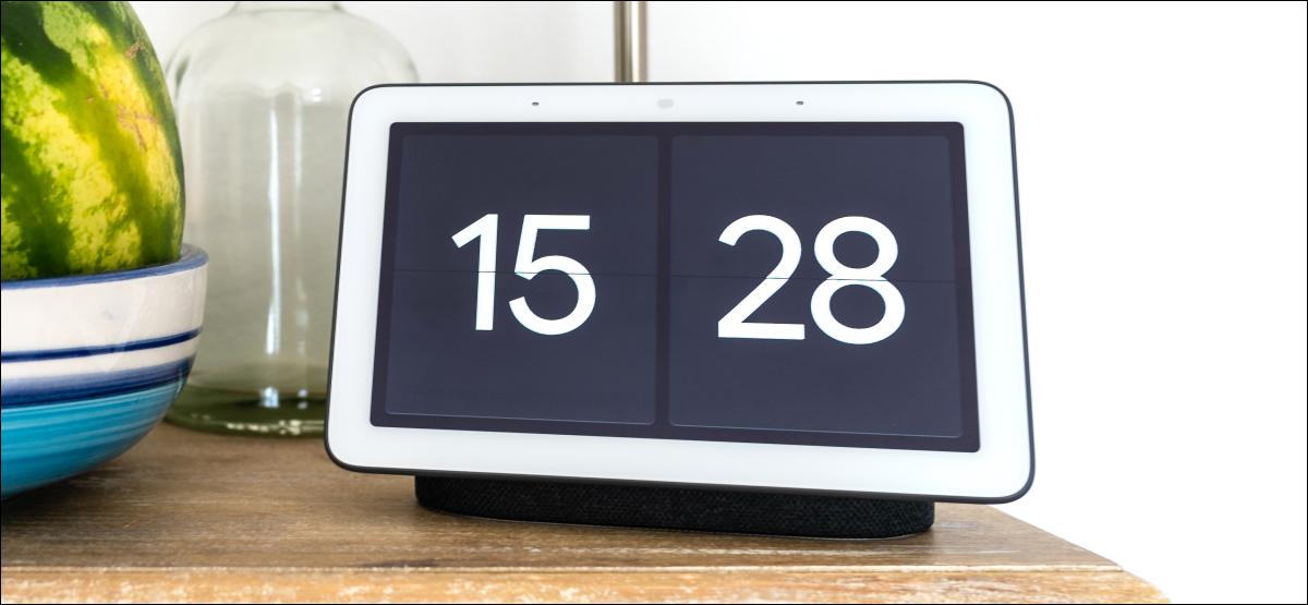 reloj de pantalla completa de google nest hub