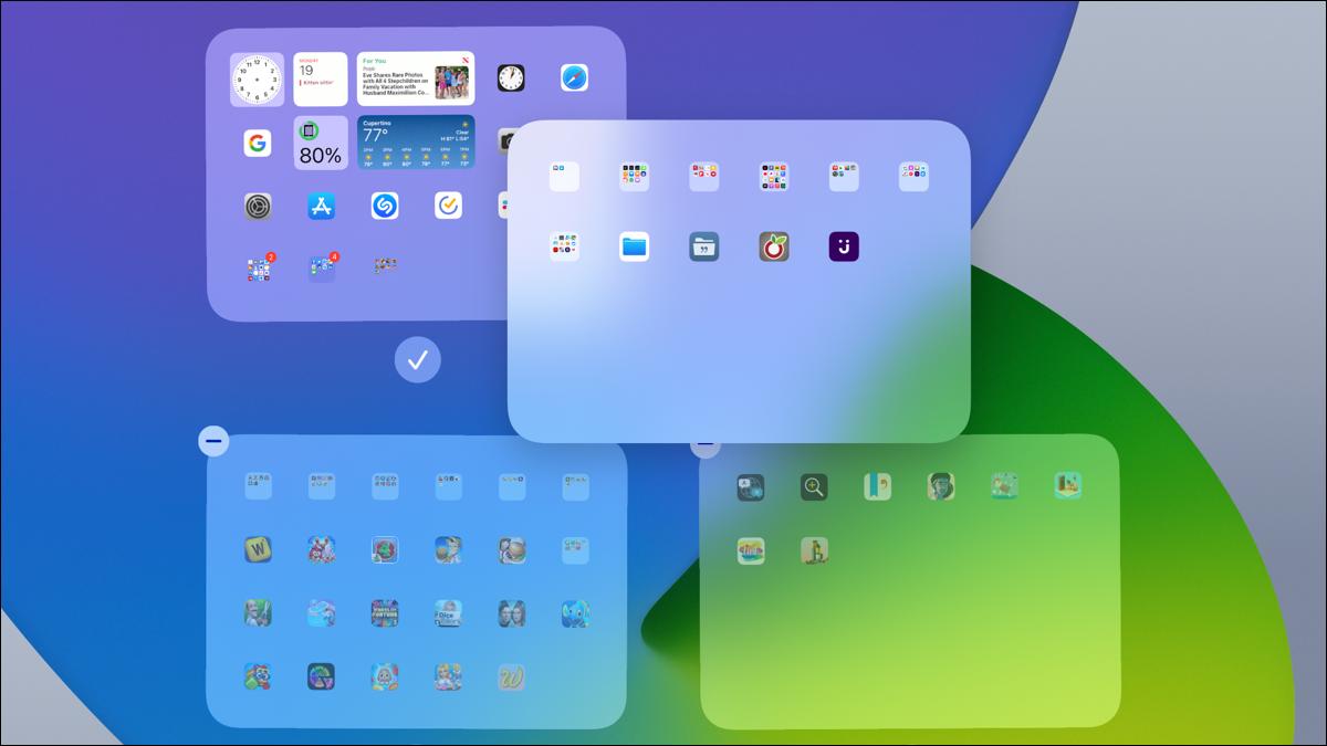 Ocultar y reordenar pantallas en iPad