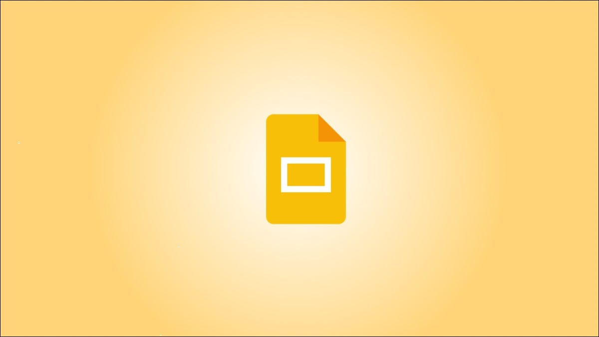 Logotipo de Google Slides sobre un fondo degradado amarillo.