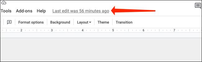 """Haga clic en el """"La última edición fue"""" enlace a la derecha de la """"Ayuda"""" en la barra de menú."""