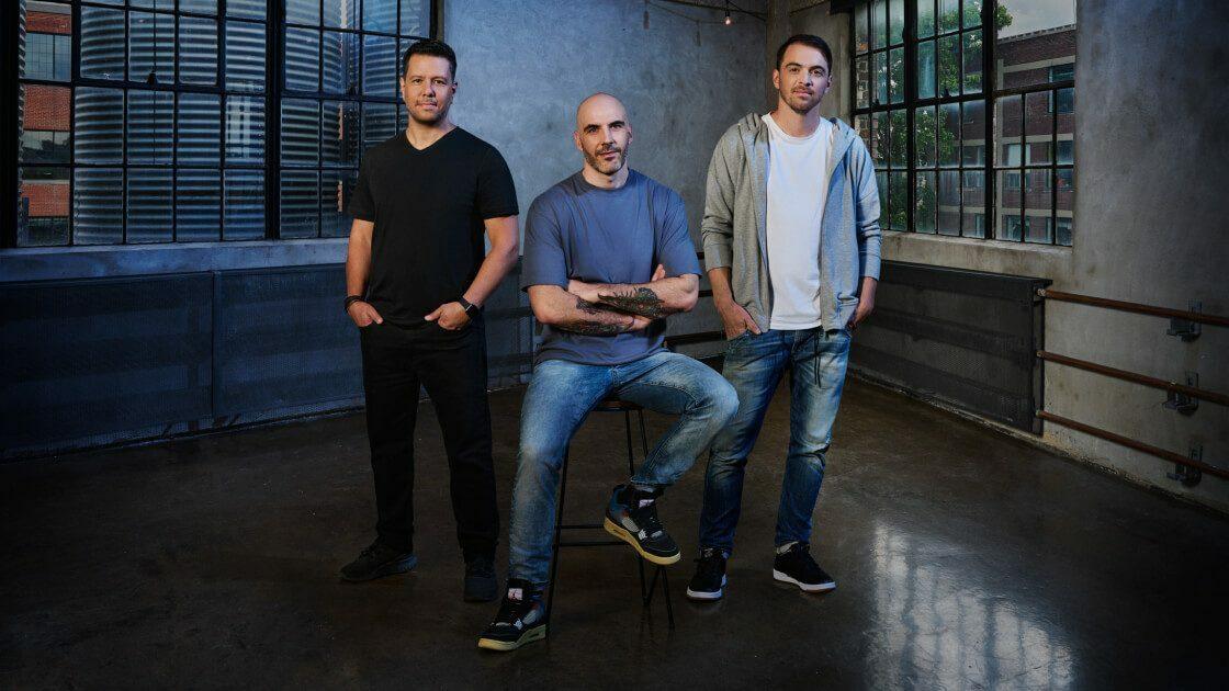 (De izquierda a derecha) Mike Yazijian, director de arte;  Roman Campos-Oriola, director creativo;  Philippe Ducharme, productor sénior