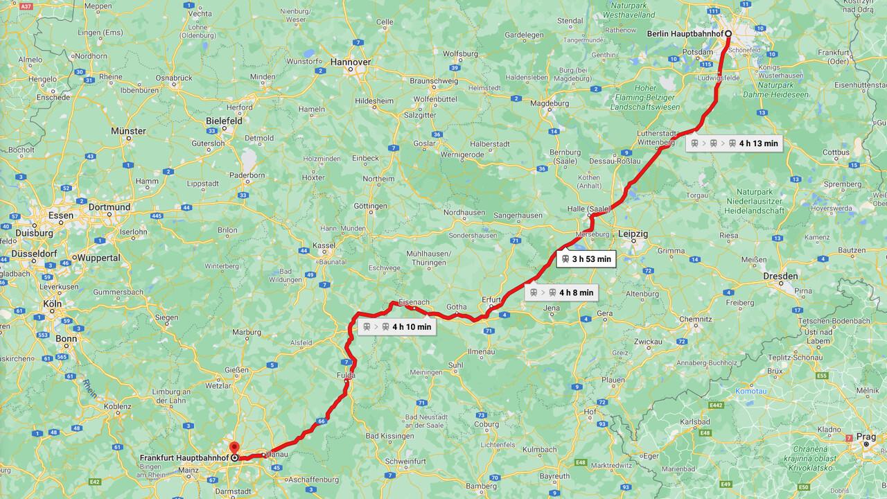 Deutsche Bahn y Google: Google Maps recibe información en vivo para ICE, IC y EC