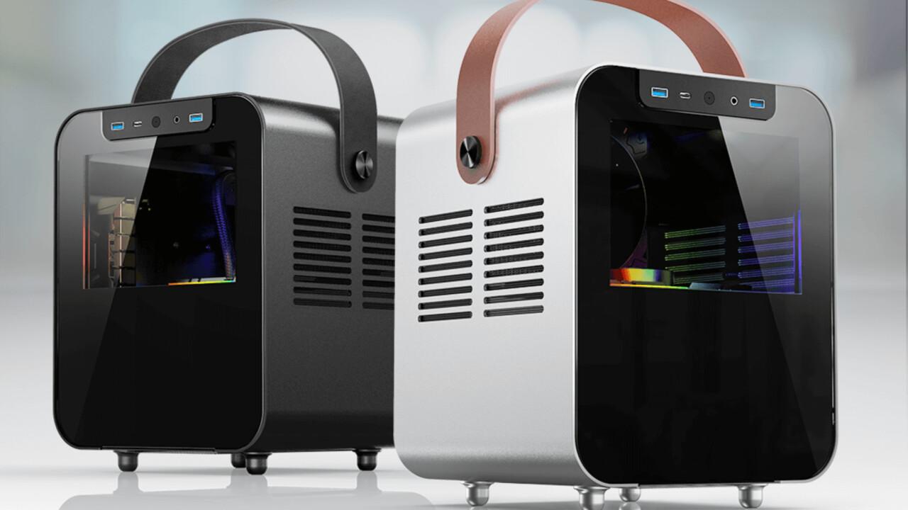 Jonsbo Jonsplus BO 100: El mango de cuero artificial realza una carcasa ITX
