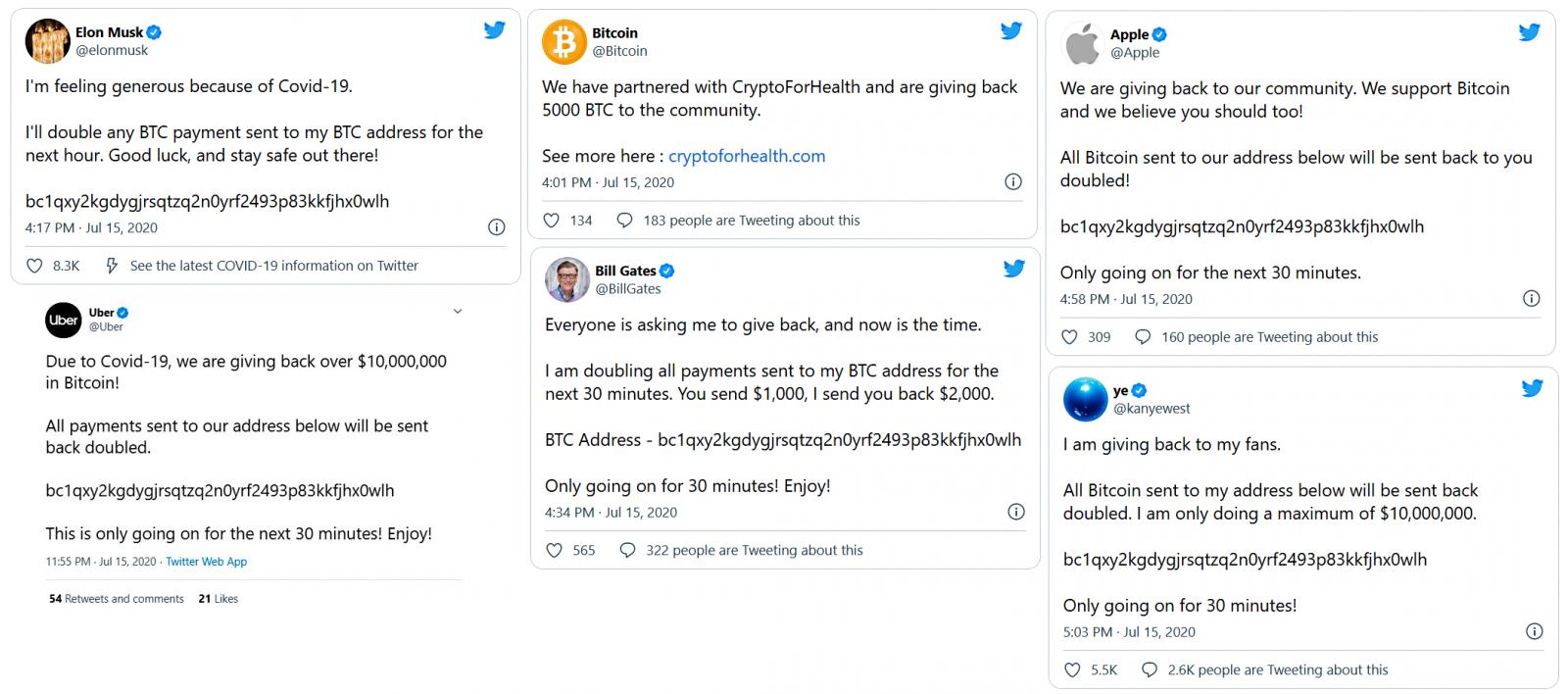 Estafa de hack de criptomonedas en Twitter