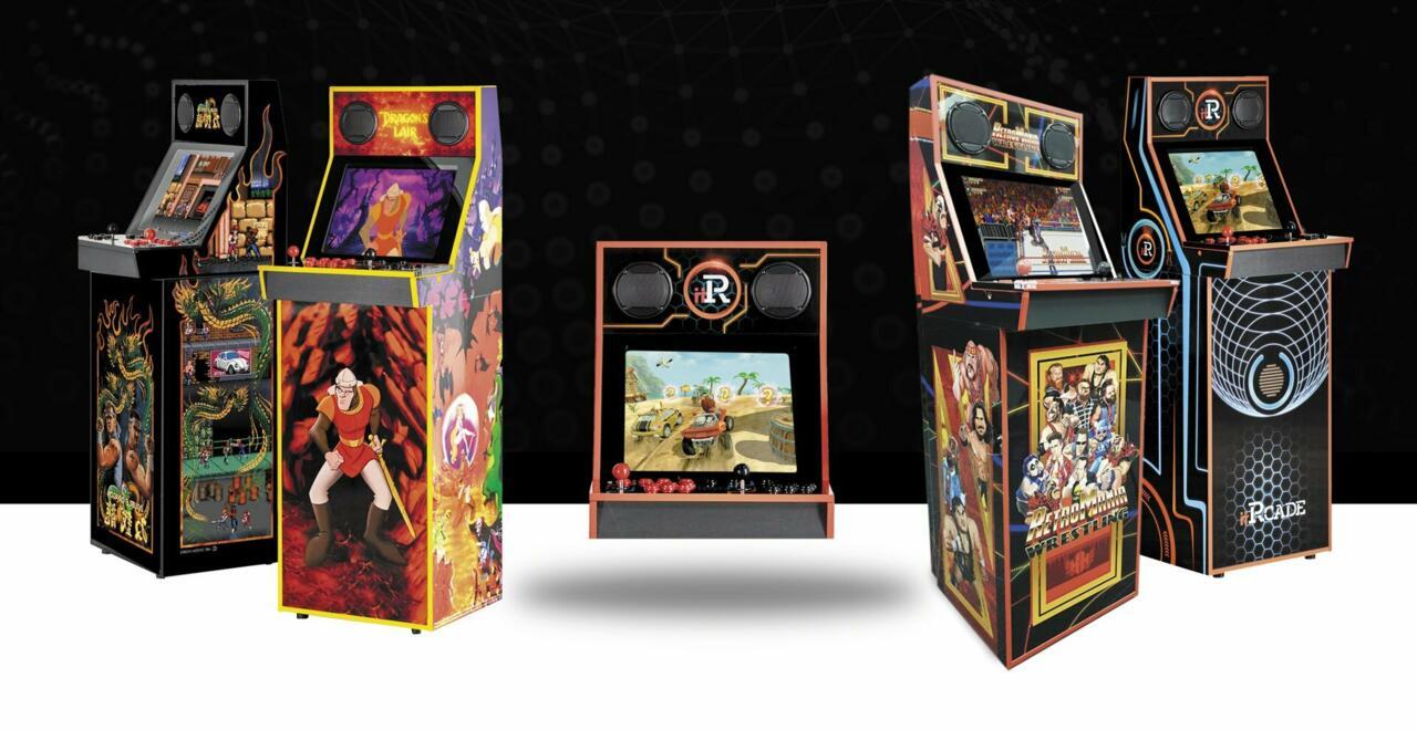 LR: Black Edition Dragon's Lair, Classic Bartop, Retromania, Classic con soporte
