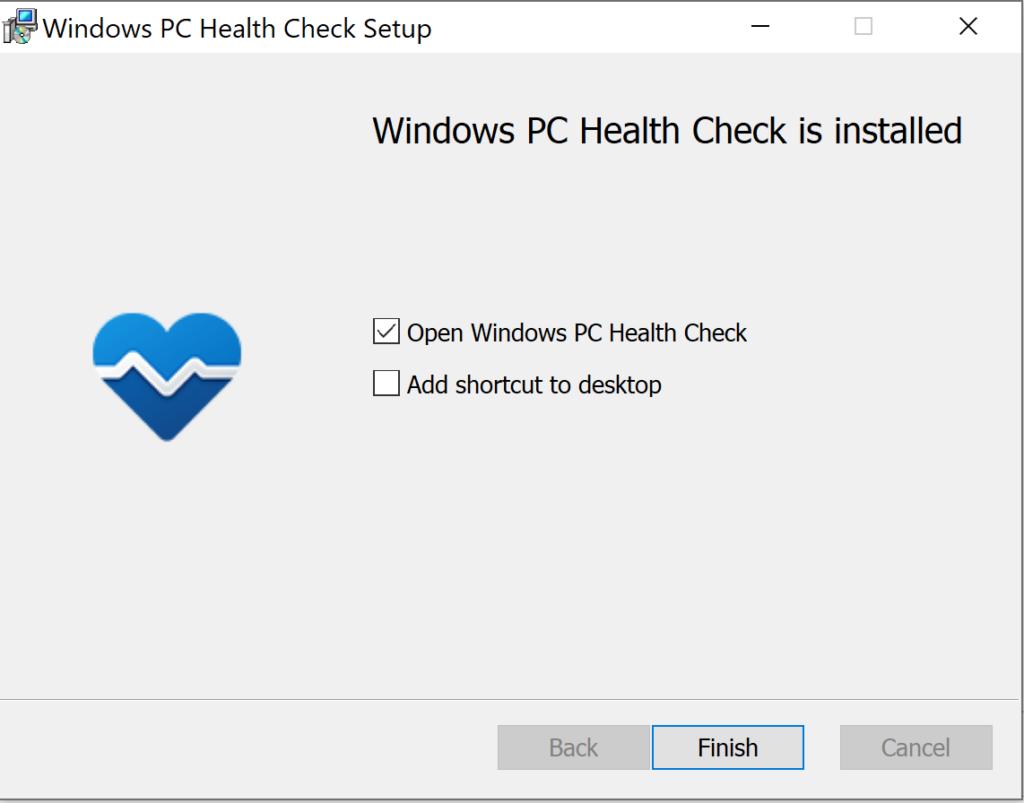 Verifique los requisitos de Windows 11 con la aplicación PC Health Check • Sitio web para estudiantes