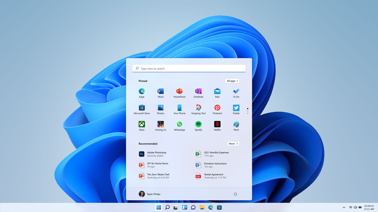Windows 11: Insider Preview Build 22000.71 bringt Acryl-Effekte