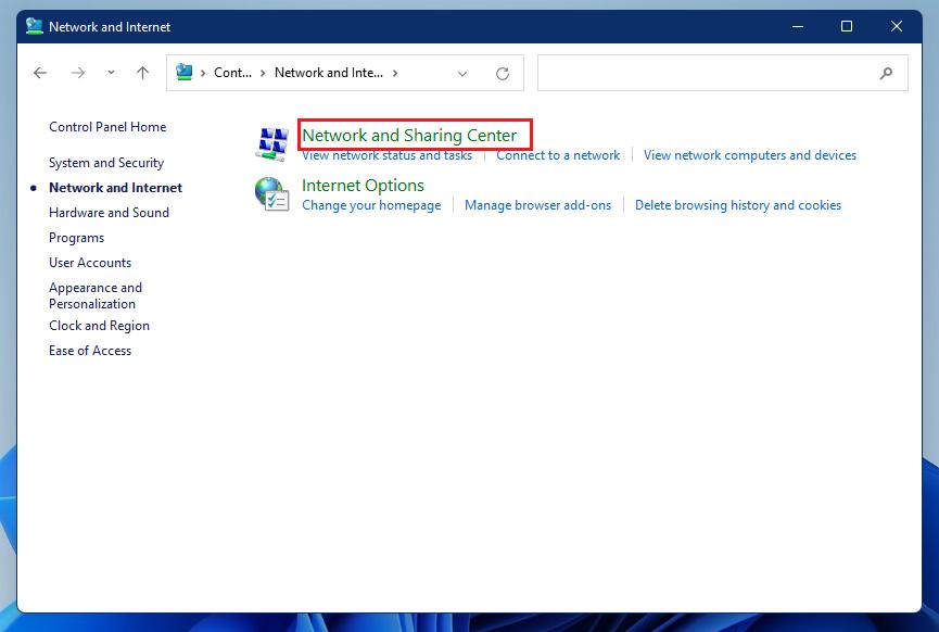 centro de redes y recursos compartidos de windows 11