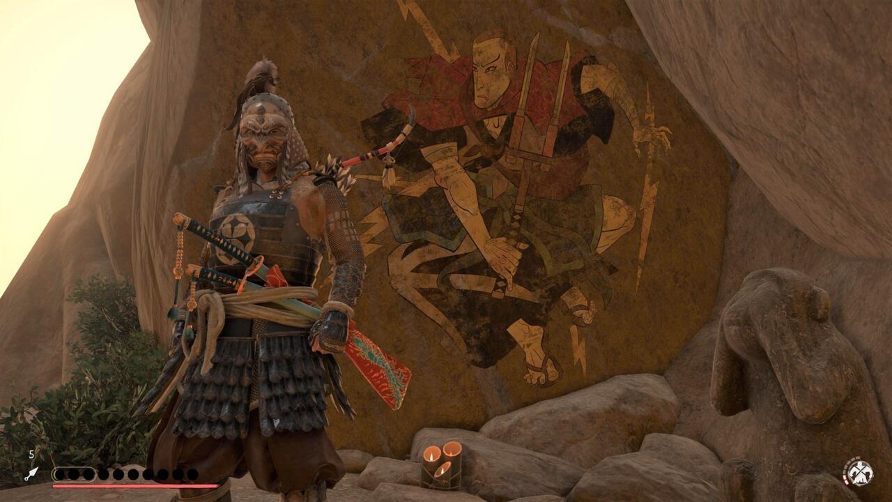 Si recorre la montaña Saruiwa, es posible que encuentre este mural, un homenaje al infame de Sucker Punch.
