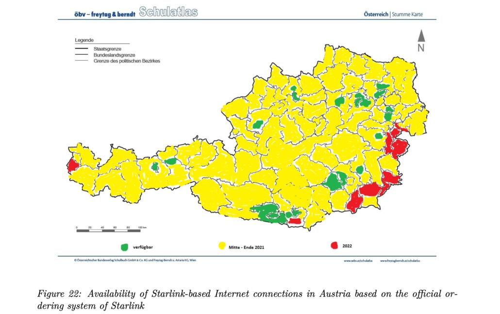 Cobertura de Starlink Austria