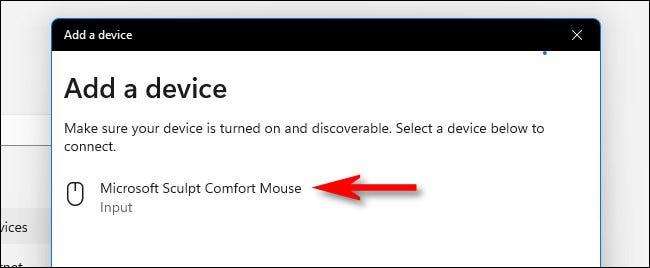 Seleccione el dispositivo Bluetooth en la lista.