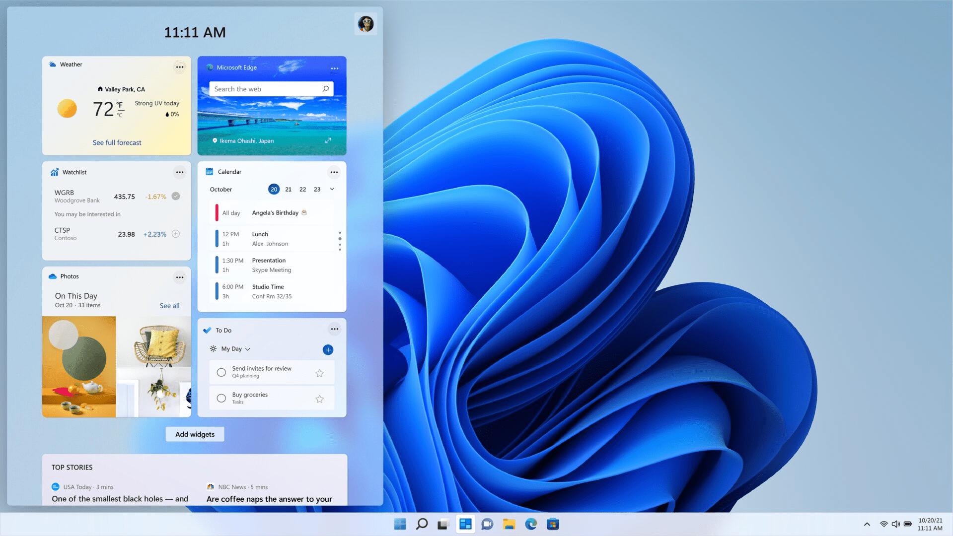 En Windows 11, el widget de calendario hace este trabajo