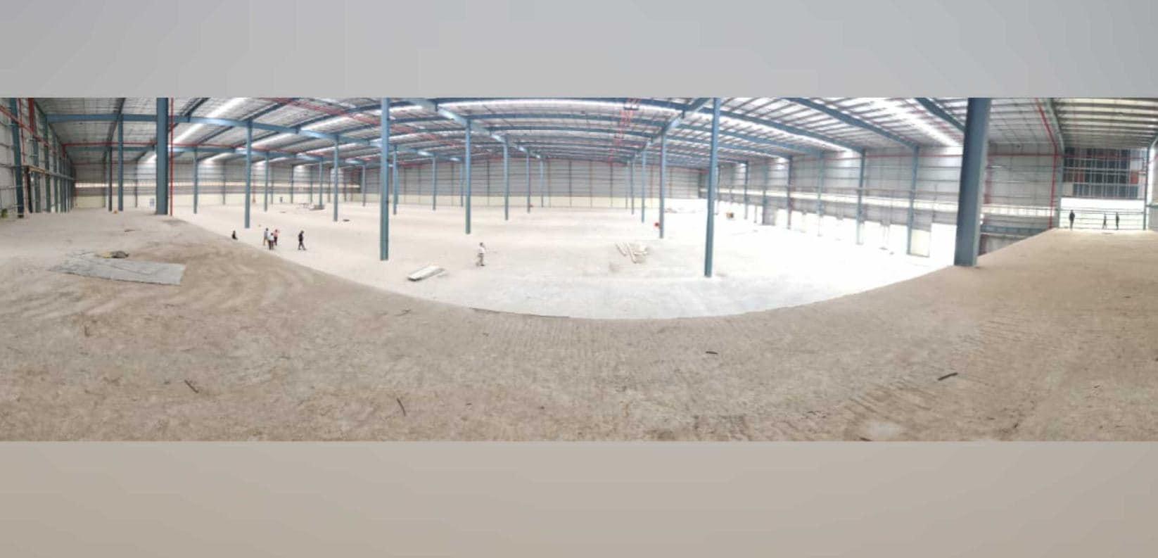 La planta de producción de Simple Energy en Hosur aún está lejos de ser operativa.  Imagen: Suhas Rajkumar vía Twitter