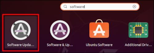 """Empiece a escribir """"Actualizador de software"""" y haz clic en él cuando aparezca"""
